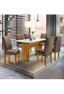Sala De Jantar Completa Com Mesa E 6 Cadeiras Dakota Siena Móveis Ypê