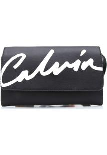 Bolsa Calvin Klein Lettering Preta