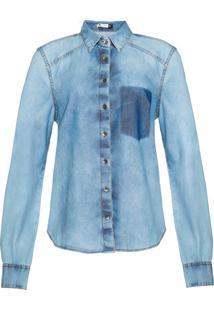 5b57ba367f Hering. Camisa Jeans Feminina ...