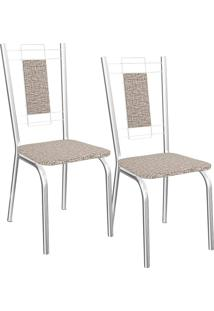Kit 2 Cadeiras Florença - Kappesberg - Linho Marrom