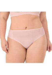 Calcinha Plus Size Fio Dental Duplo Com Proteção Permanente - Feminino-Rosa