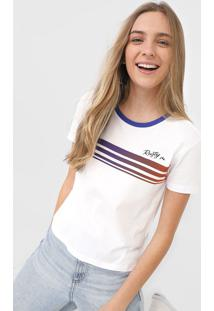 Camiseta Rusty Rainbow Branca - Kanui