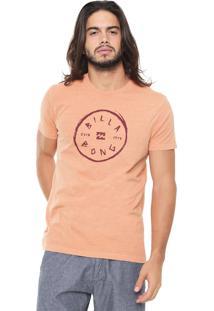Camiseta Billabong Rotohand Laranja