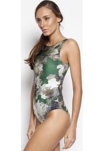 Body Camuflado - Verde & Preto - Patrapatra