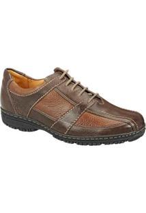 Sapato Casual Couro Sandro & Co Masculino - Masculino-Marrom