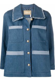 Chloé Jaqueta Jeans - Azul