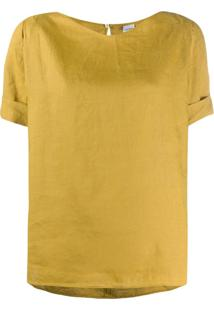 Aspesi Blusa Mangas Curtas - Amarelo