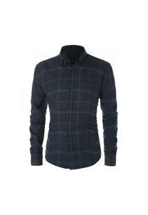 Camisa Masculina Xadrez Berwick - Azul E Verde