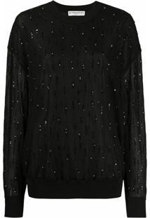 Givenchy Suéter Com Aplicação De Paetês - Preto