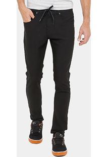 Calça Jeans Quiksilver Especial Skate Black Masculina - Masculino