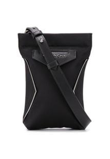 Givenchy Lettering Logo Plaque Shoulder Bag - Preto