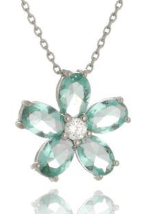 Colar Le Diamond Flor Verde Turmalina - Tricae