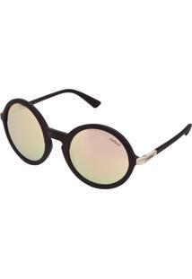 Óculos De Sol Colcci Redondo Espelhado Preto