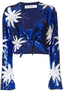 Filles A Papa Blusa Com Paetês - Azul