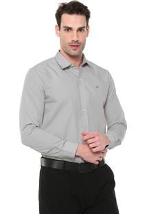 Camisa Colombo Reta Logo Cinza