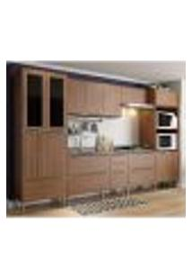 Cozinha Completa Multimóveis Com 6 Peças Calábria 5451 Nogueira