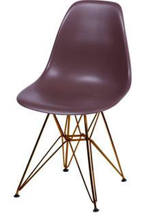 Cadeira Eames Polipropileno Cafe Base Cobre - 45982 - Sun House