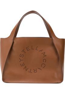 Stella Mccartney Bolsa Tote Stella Logo - Marrom