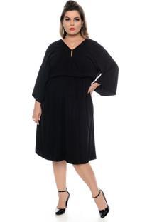 Vestido Cabotine Preto Plus Size