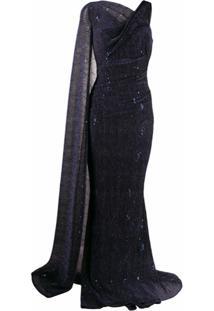 Talbot Runhof Vestido Rosedale - Azul