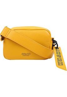 Bolsa Colcci Mini Bag Charm Feminina - Feminino-Amarelo