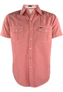 Camisa Gajang Xadrez Vermelho