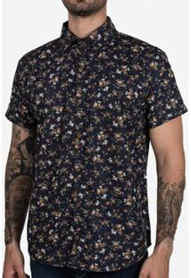 Camisa Hermoso Compadre Micro Estampa Masculina - Masculino-Preto