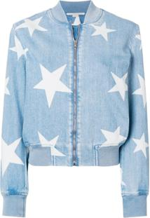 Stella Mccartney Jaqueta Bomber 'Star' Jeans - Azul