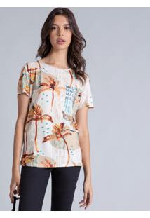 Blusa Manga Curta Estampada Long Beach - Lez A Lez