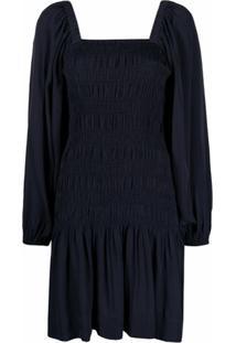 Ganni Vestido Mangas Longas - Azul