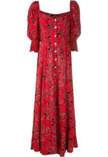 Eva Vestido Midi Sucuri Fofa - Vermelho