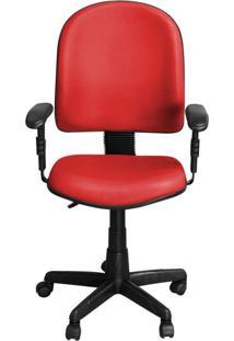 Cadeira Pethiflex Pegbd Giratória Couro Vermelho