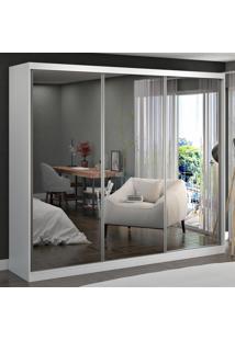 Guarda-Roupa Casal 3 Portas Com 3 Espelhos 100% Mdf 7320G4E3 Branco - Foscarini