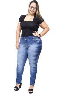 Calça Jeans Credencial Plus Size Cigarrete Regines Feminina - Feminino