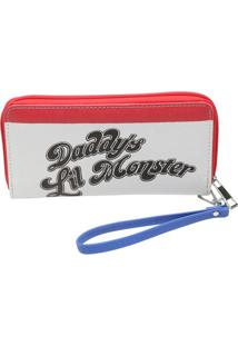 Carteira Sq® Daddy'S Lil Monster- Branca & Vermelha-Urban