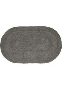 Tapete Flip Oval- Cinza- 80X50Cm- Kapazikapazi
