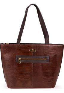 Bolsa Shopping Bag Lara De Couro