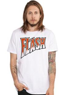 Camiseta Masculina Queen Flash - Masculino-Branco