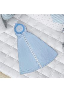 Toalha Banho Bebê Azul Com Capuz Sol Grão De Gente Azul