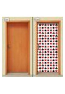 Adesivo Decorativo De Porta - Naipes De Baralho - 2042Cnpt