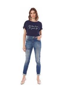 Calça Maria.Valentina Skinny M. Julia Cós Intermediário Com Puídos Jeans
