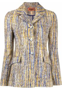 Missoni Blazer De Alfaiataria Em Tweed - Azul