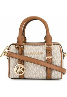 Michael Michael Kors Monogram Duffle Crossbody Bag - Marrom