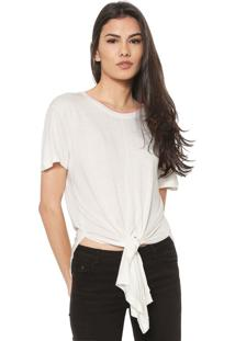 Camiseta Ellus Amarração Off-White