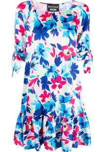 Boutique Moschino Vestido Com Estampa Floral - Branco