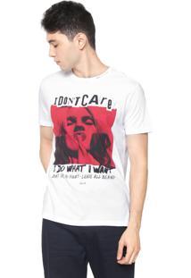 Camiseta Ellus Dont Care Branca/Vermelha