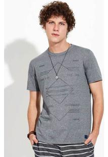Camiseta Masculina Em Malha De Algodão E Poliéster Em Modelagem Slim