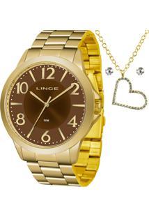 Kit Relógio Lince Feminino Com Colar E Brincos Lrgj080Lkv85N2Kx