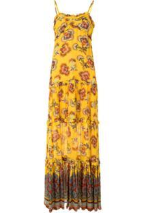 Alexis Vestido De Algodão Lussa Com Amarração - Amarelo