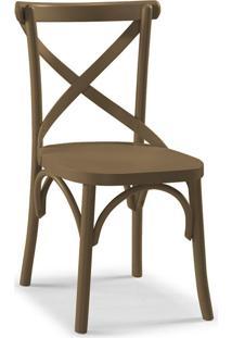 Cadeira De Jantar X Marrom Médio